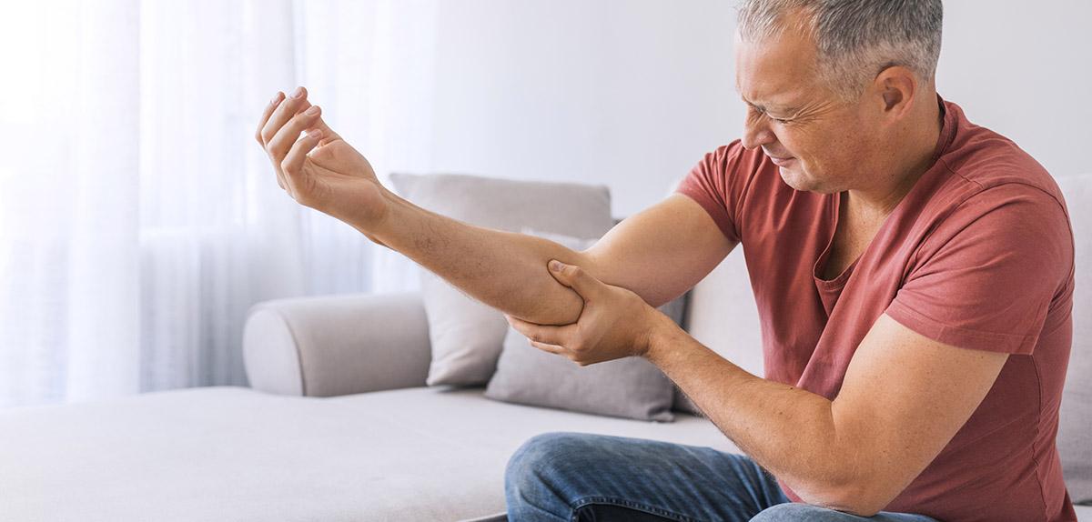 man experiencing myofascial pain