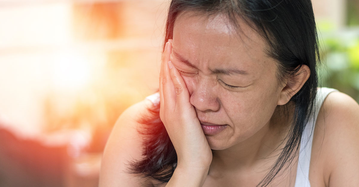 woman with persistent idiopathic facial pain
