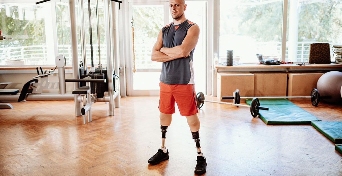 man with phantom limb pain