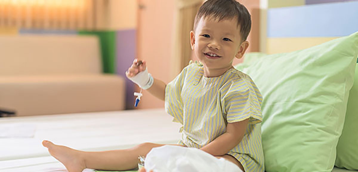child getting ready to undergo baclofen pump placement with bssny pediatric neurosurgeons