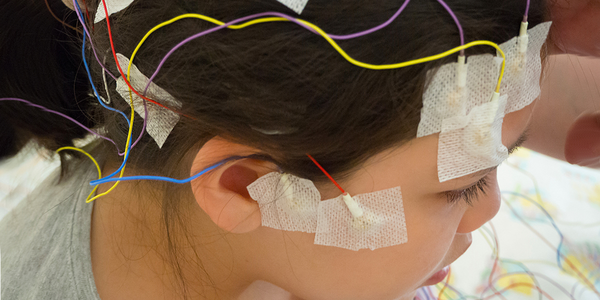 child with epilepsy being tested