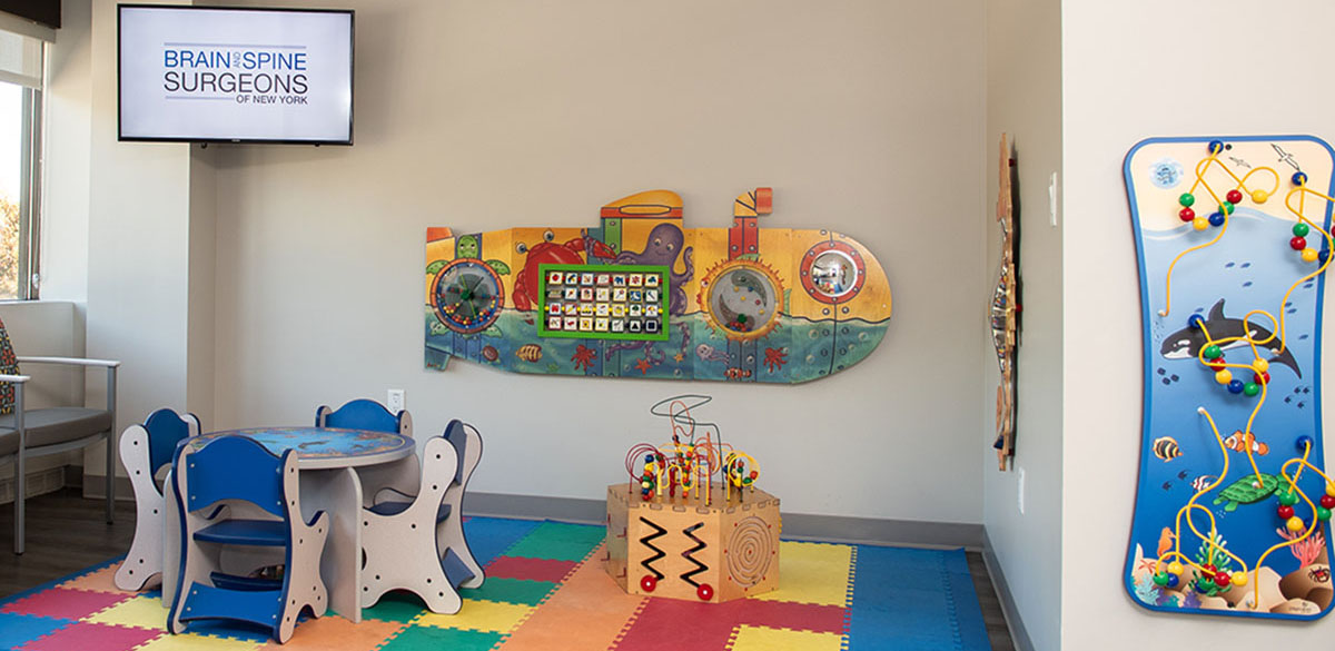 the waiting area of brain and spine surgeons of new york pediatric neurosurgery office